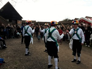 Etcetera Morris Men at Forty Hall Farm Lambing Weekend